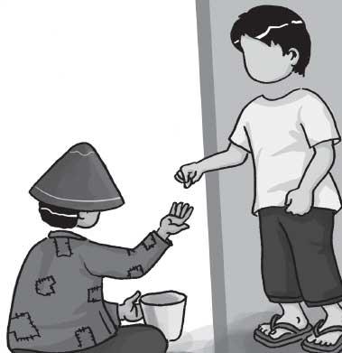 Hasil gambar untuk gambar kartun bantuan ke fakir miskin